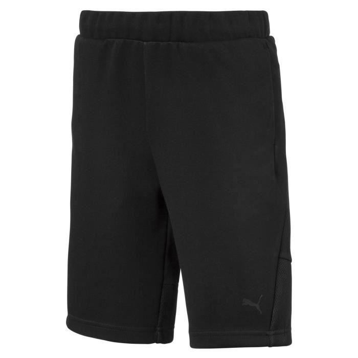 Short Puma Short Tech Sweat Noir - Achat