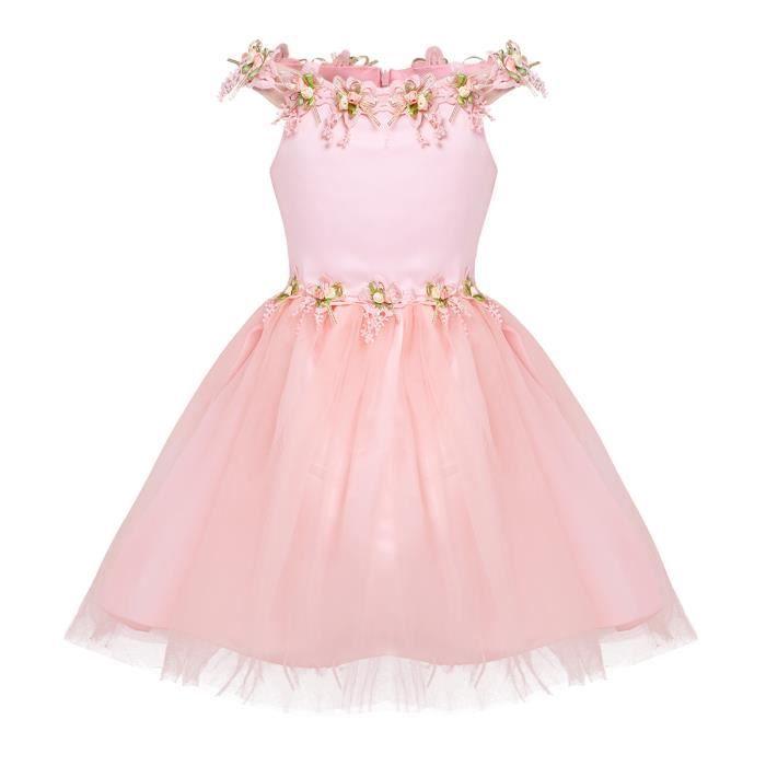 Robe Cérémonie Fille Enfant Princesse Robe