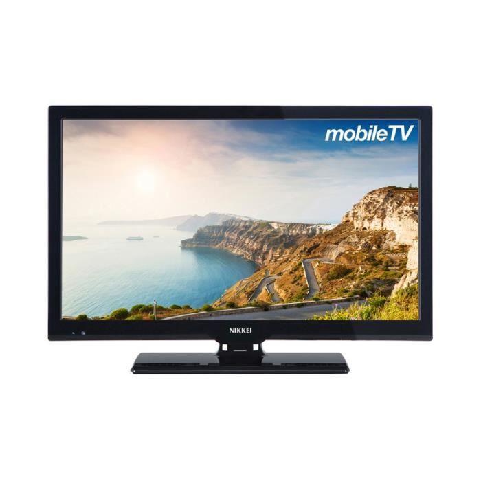 Téléviseur LED Téléviseur 55 cm (22 pouces) full HD avec alimenta