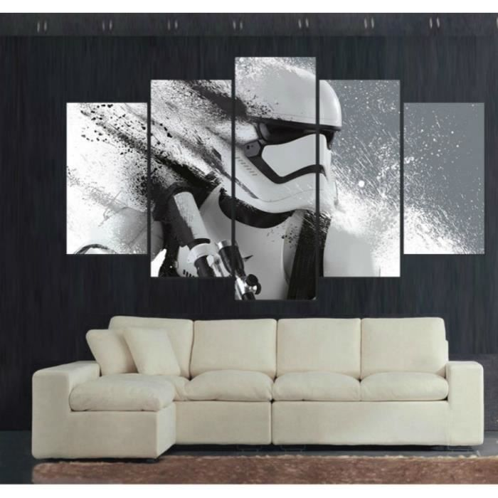 5pcs storm trooper star wars toile tableau home d cor. Black Bedroom Furniture Sets. Home Design Ideas
