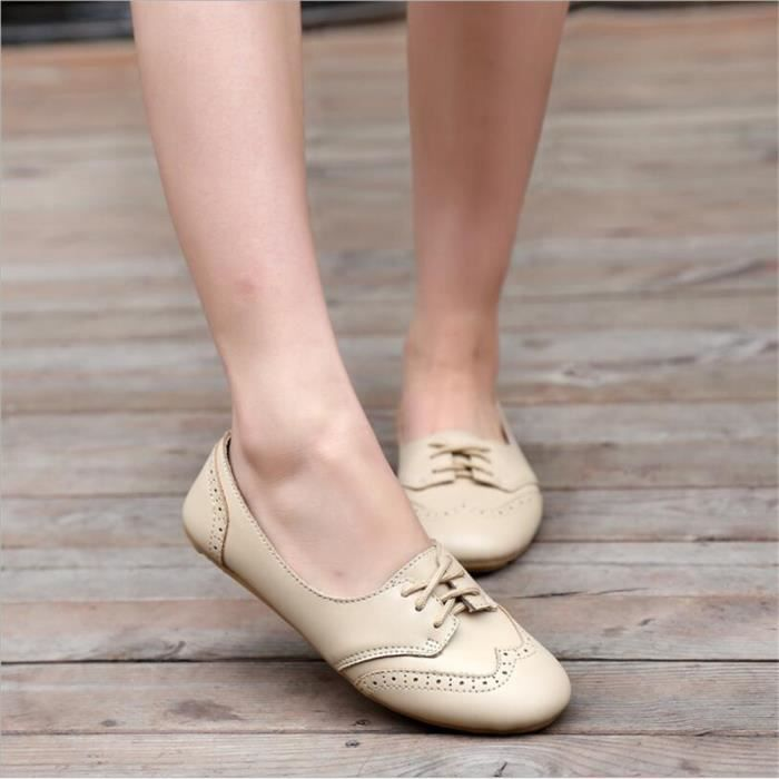 Leger BTYS Chaussures XZ043Beige36 Femmes Chaussures Occasionnelles Femmes Cuir Chaussure wgq1XXP