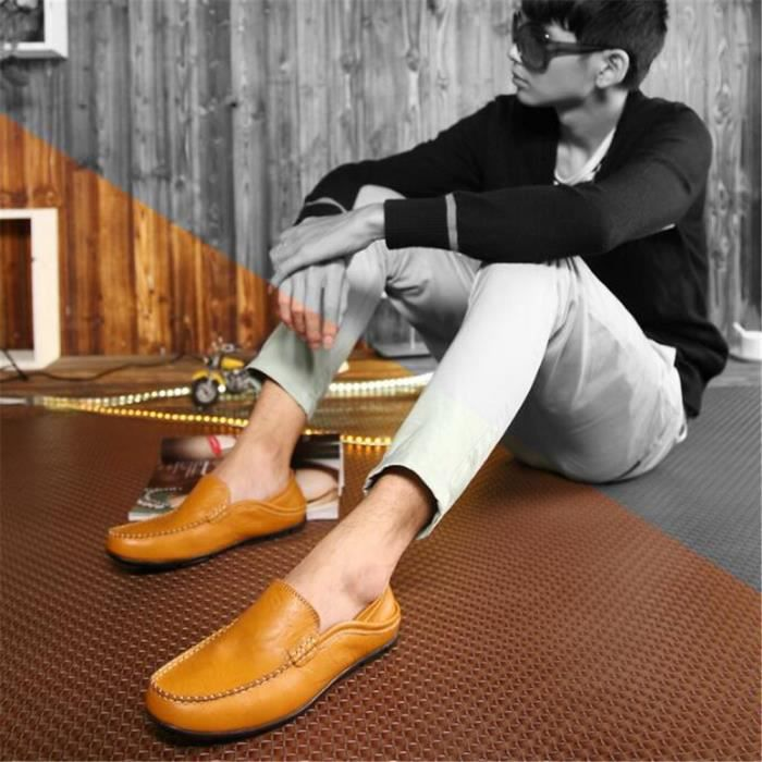 Moccasin homme Loafer Nouvelle Mode 2017 ete chaussures Marque De Luxe Confortable chaussure hommes Grande Taille 44
