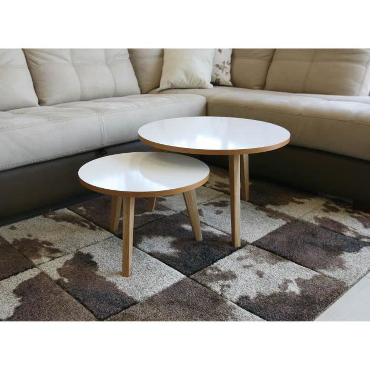 Table basse gigogne JIMI lot de 7 design scandinave - Achat