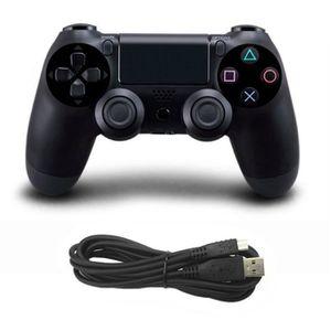 JOYSTICK JEUX VIDÉO Manette de jeu filaire PS4 noire