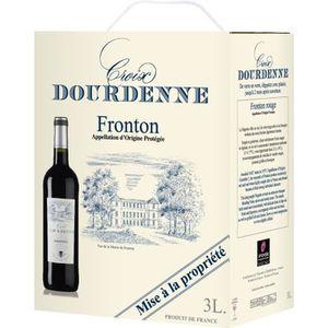 VIN ROUGE BIB Vin Rouge Croix Dourdenne AOP Fronton Rouge -