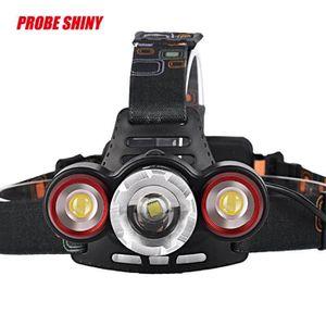 LAMPE DE POCHE XML T6 8500Lm Headlamp + 2R5 3 LED Head Light Torc