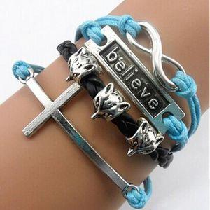 BRACELET - GOURMETTE Bracelets en forme de croix à la main réglable 8 b