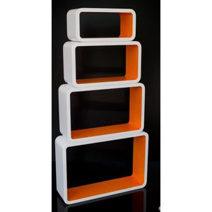etagere cube orange achat vente etagere cube orange pas cher soldes cdiscount. Black Bedroom Furniture Sets. Home Design Ideas