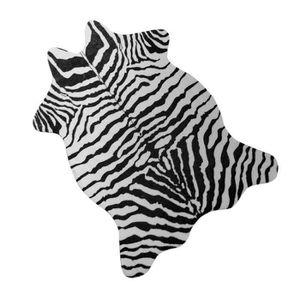 TAPIS Tapis de sol en polyester imitation peau de Zèbre