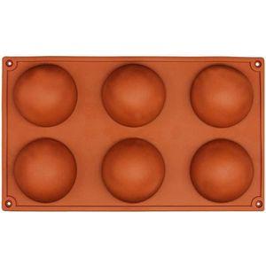 MOULE  6 petit demi-spheres moule en silicone, Plat a fou