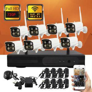 CAMÉRA IP 8ch sans fil NVR kit plug and play système de vidé