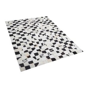 tapis en peau de vache 160x230 cm noir blanc kars achat vente tapis cdiscount. Black Bedroom Furniture Sets. Home Design Ideas