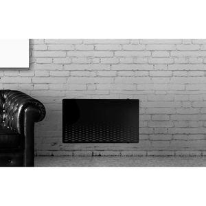 RADIATEUR ÉLECTRIQUE ALPINA Verre Noir LCD 1500 watts Radiateur Panneau