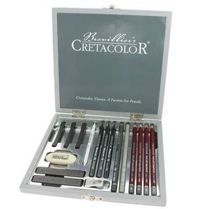 CRAYON DE COULEUR Coffret crayon graphite CRETACOLOR SILVER BOX