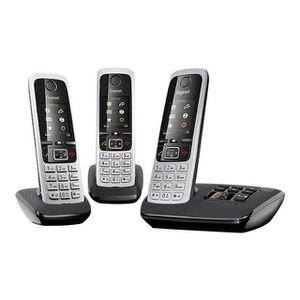 Téléphone fixe GIGASET C430A TRIO COMMUNICATION TÉLÉPHONIQUE C…