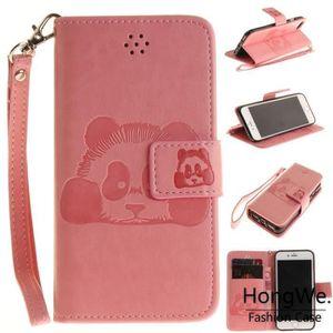 HOUSSE - ÉTUI Pour Apple iPhone 7-8 Rose Embossage Clapet Aimant