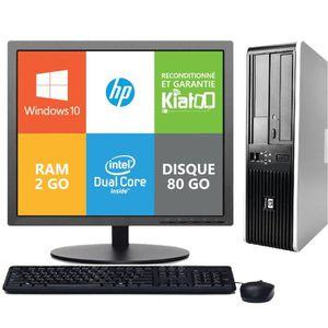 UNITÉ CENTRALE + ÉCRAN ordinateur de bureau HP 7800 dual core 2go ram 80g