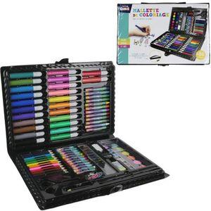 JEU DE COLORIAGE - DESSIN - POCHOIR Mallette de Coloriage 86 Pièces - Peinture Crayon