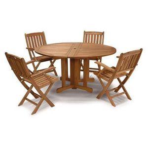 Table Jardin Ronde En Bois Milano Achat Vente Table De