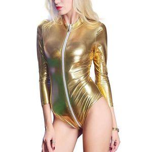 BODY Wonder Beauty® Femme PVC Wetlook Cuir Body Bodysui