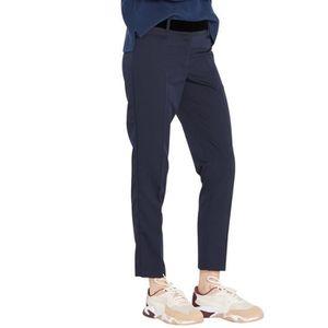 PANTALON Pantalon tailleur slim ceinture velour noir PACKER