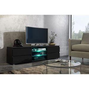 MEUBLE TV Meuble tv 150 cm noir mat