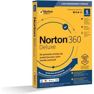 ANTIVIRUS NORTON 360 Deluxe 50 Go FR 1 Utilisateur 5 Apparei