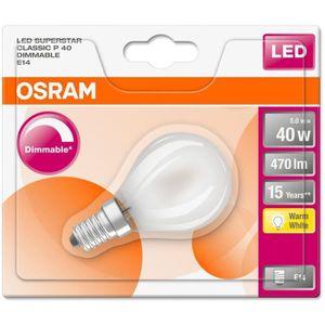 AMPOULE - LED OSRAM-Ampoule LED dépolie sphérique E14 Ø4,5cm 270