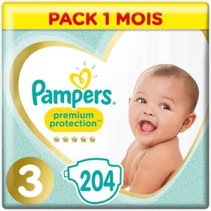 COUCHE Pampers Premium Protection Taille 3 5-9 kg - 204 C