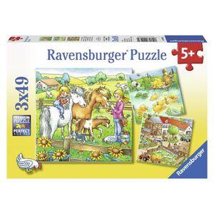 PUZZLE Puzzle 3x49 pcs Animaux De La Ferme