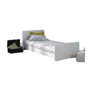 STRUCTURE DE LIT Lit Spike  Blanc 90x190 cm
