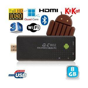 UNITÉ CENTRALE  Mini PC Android Kitkat 4.4 Quad Core TV Box Full H