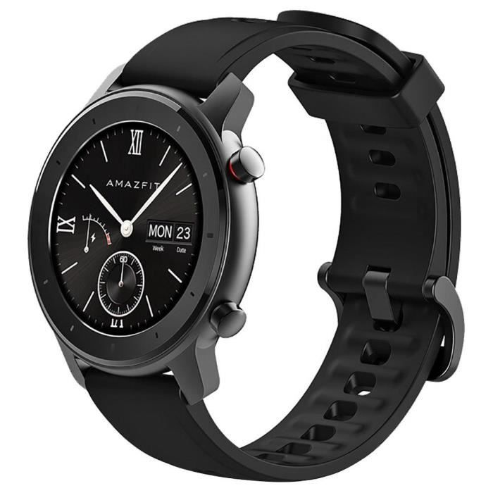 Xiaomi AMAZFIT GTR Smartwatch 1.2 pouces AMOLED Display 5ATM Résistant à l'eau GPS 42mm Version Mondiale - Noir