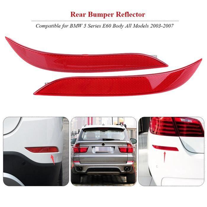 Réflecteur de pare-chocs pour BMW Série 5 E60 2003-2007 63146915039 63146915040-OHL
