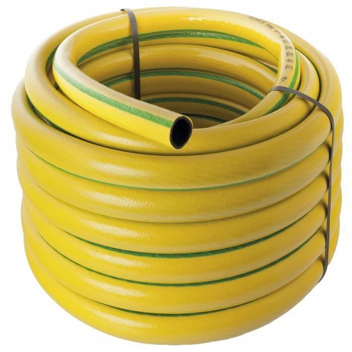 25 m Tuyau d'arrosage antivrille renforce Werkapro 150 g/m. Ce tuyau d'arrosage a la caracteristique d'etre antivrille