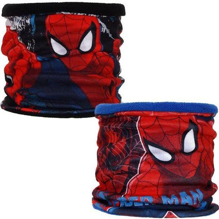 Tour de cou cache-cou grand Spiderman - Couleur:Bleu foncé