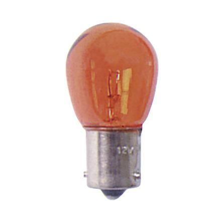 Boite de 10 ampoules de clignotant 12V 21W 1 plot Ba15s ambrée
