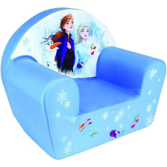 FUN HOUSE Disney Reine des Neiges 713229 FAUTEUIL CLUB EN MOUSSE Dimensions: ± H. 42 x L. 52 x P. 33 cm pour enfant
