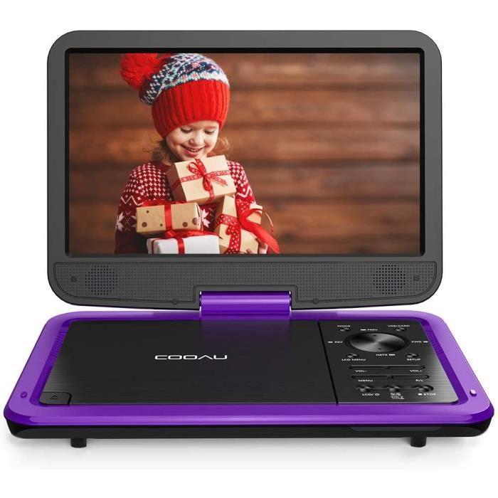 Lecteurs DVD portables Cooau Lecteur DVD portable 12,5- avec écran pivotant HD 10,5-, compatible avec toutes les régions 5822