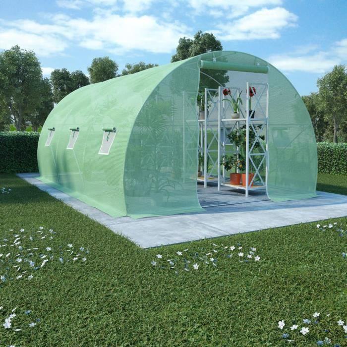 Décor🍓Haute qualité- Serre de Jardin Serre à tomates- SERRE DE JARDINAGE Balcon Terrasse - Tunnel serre de jardin 13,5 m² 4507736