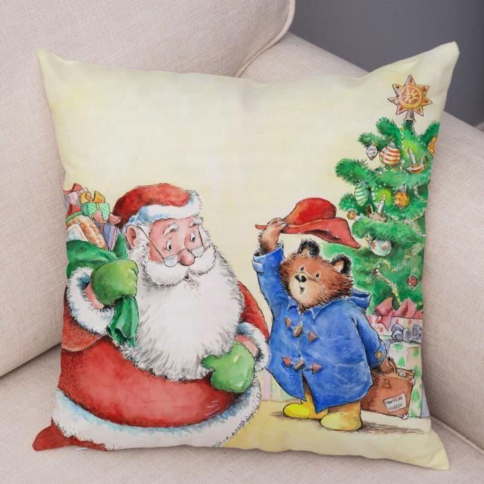 7 450mm*450mm -Doux peluche royaume uni dessin animé ours housse de coussin pour canapé enfants chambre décor mignon Animal taie d&#