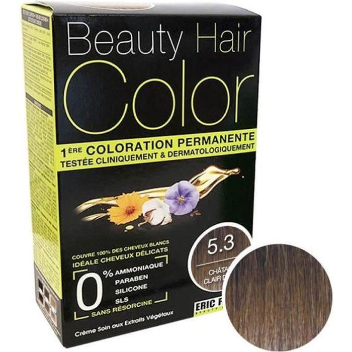 Eric Favre - Beauty Hair Color - Coloration cheveux permanente d'origine naturelle - Châtain Clair Doré