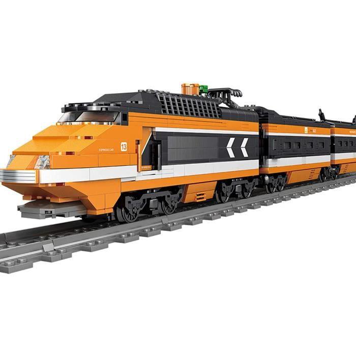 VEHICULE A CONSTRUIRE ENGIN TERRESTRE A CONSTRUIREOATop Technique Electrique Train avec Les Rails, 1287+ Pi&egraveces City Tr499