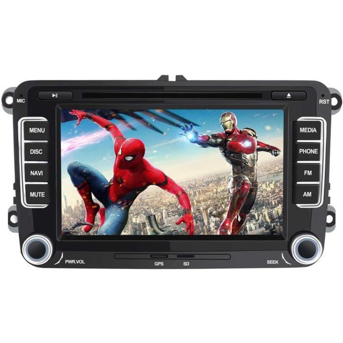pour VW de Voiture stéréo 7 Pouces 2 Din HD Bluetooth Navigation GPS stéréo DVD CD Radio Carte SD USB Multimédia Player