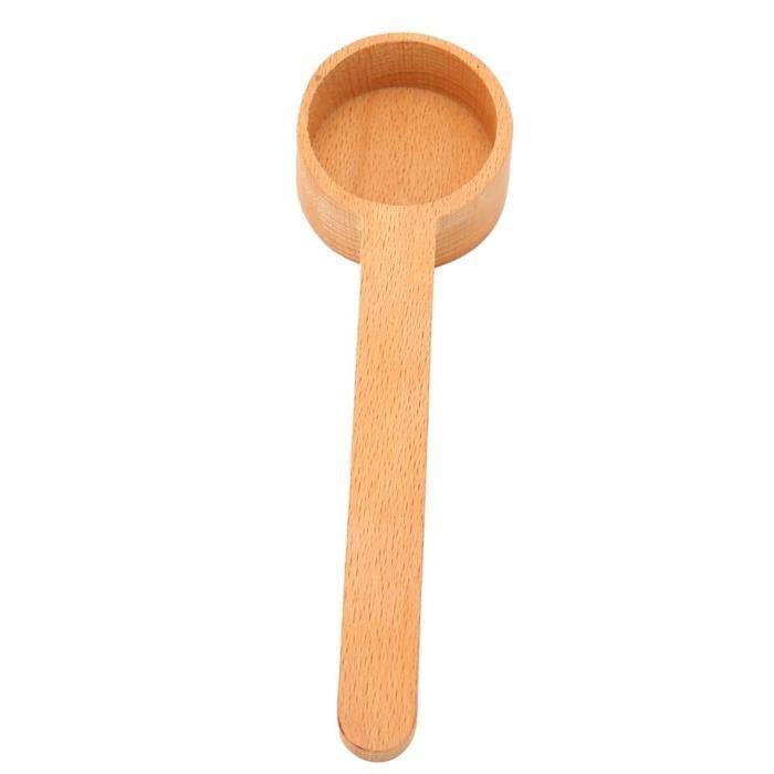 Cikonielf Pelle à sucre Cuillère à mesurer en grains de café en bois cuillère à café lait en poudre sel sucre cuillère pour
