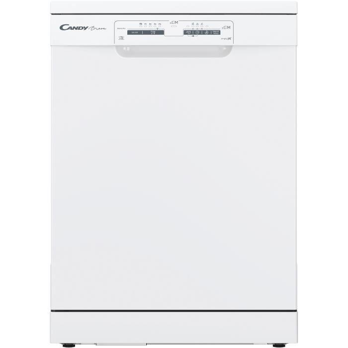 Lave-vaisselle pose libre connecté CANDY CLVS1L540PW47E - 15 couverts - Largeur 60 cm - Classe A+ - 45 dB - Blanc