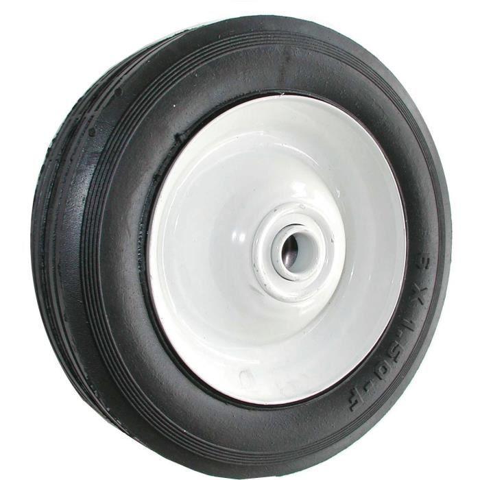 Roue en acier à moyeu centré universelle - Ø: ext: 203mm, largeur: 44mm, Long moyeu: 50,8mm, alésage: 12,7mm - Profil ligné