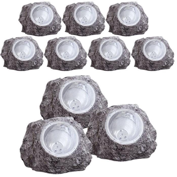 Set de 10 luminaires solaires jardin extérieur décoration éclairage terrasse LED