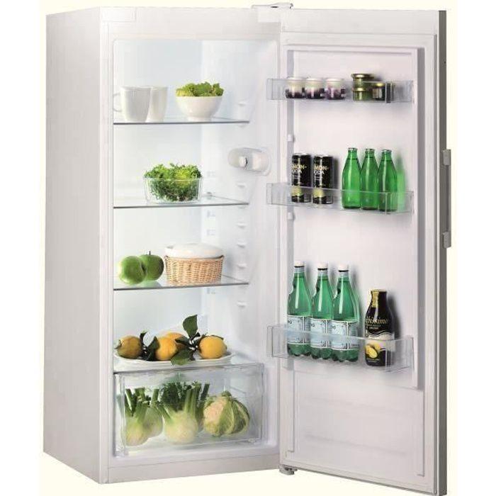 INDESIT SI41W1 - Réfrigérateur armoire - 263L - Froid Statique - L 59,5 x H 142 cm - Blanc
