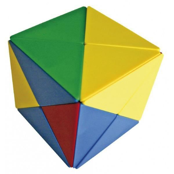 Blocs magnétiques - Cube tangram - 80mm x 80mm x 80mm